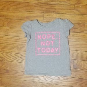 Gray shirt with pink words